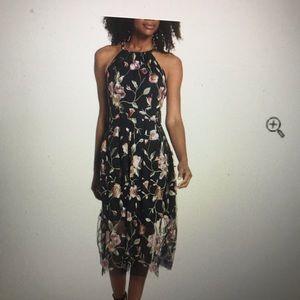 Vince Camuto Embroidered Midi Dress